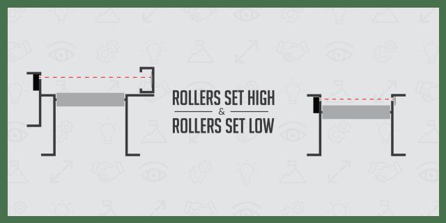 Conveyor Rollers Set High Vs. Low