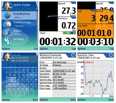 Sports Tracker para Symbian