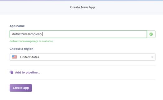 heroku create app