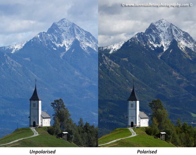Polarizing filter effects