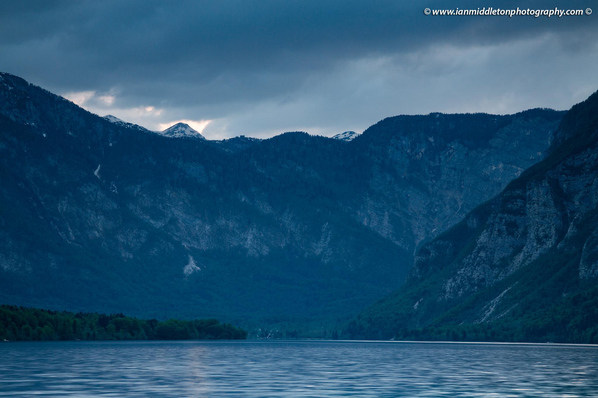 Moody clouds over Lake Bohinj, Triglav National Park, Slovenia.