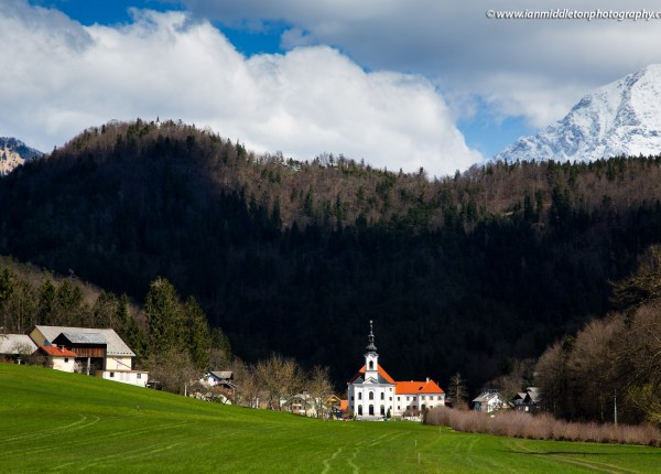 Velesovo Monastery, a Dominican convent developed around the local church of the annunciation, in Adergas village in the municipality of Cerklje na Gorenjskem, Slovenia.