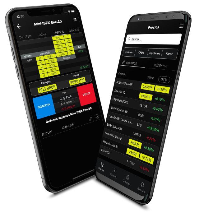 Aplicaciones móviles de trading