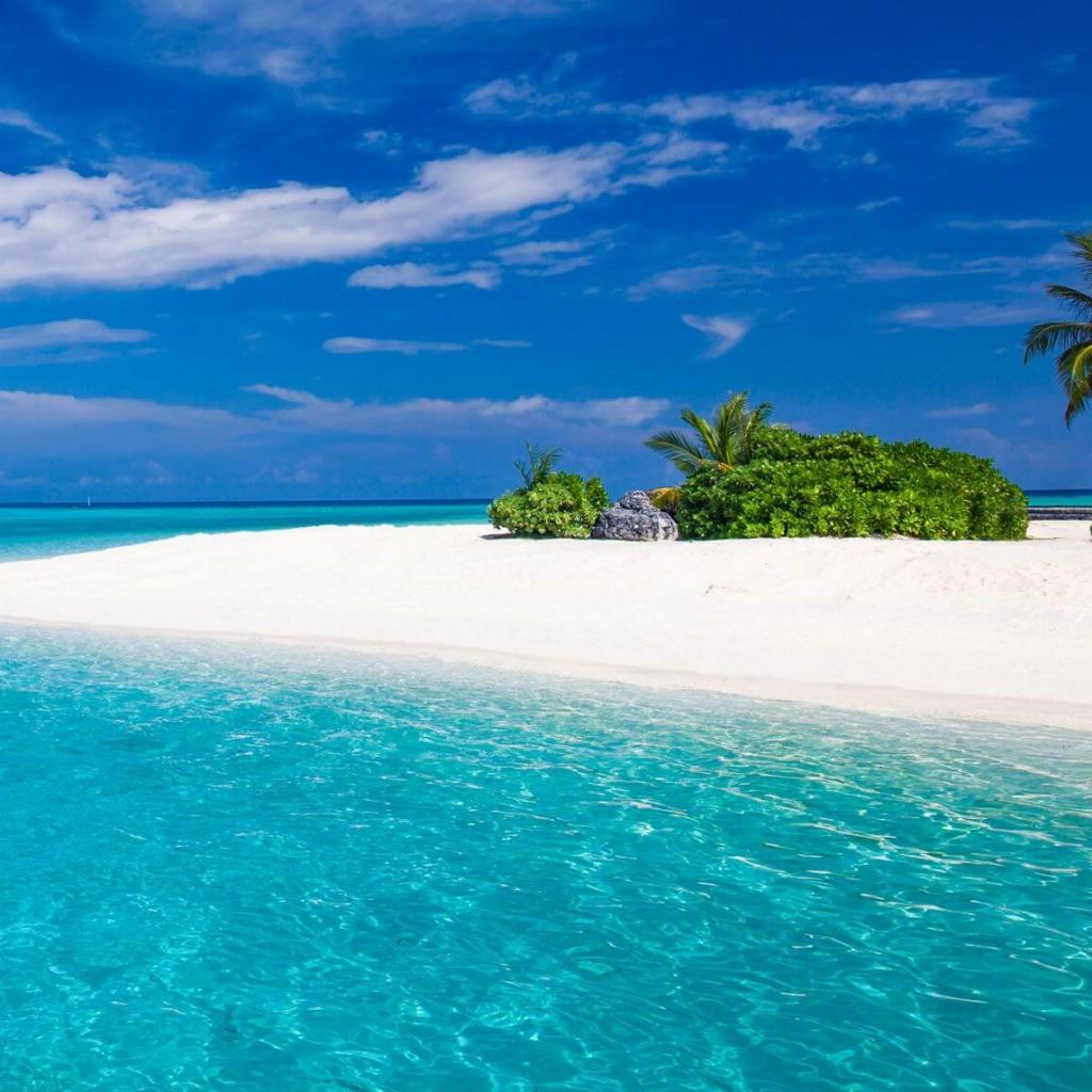 O mar azulado de Zanzibar