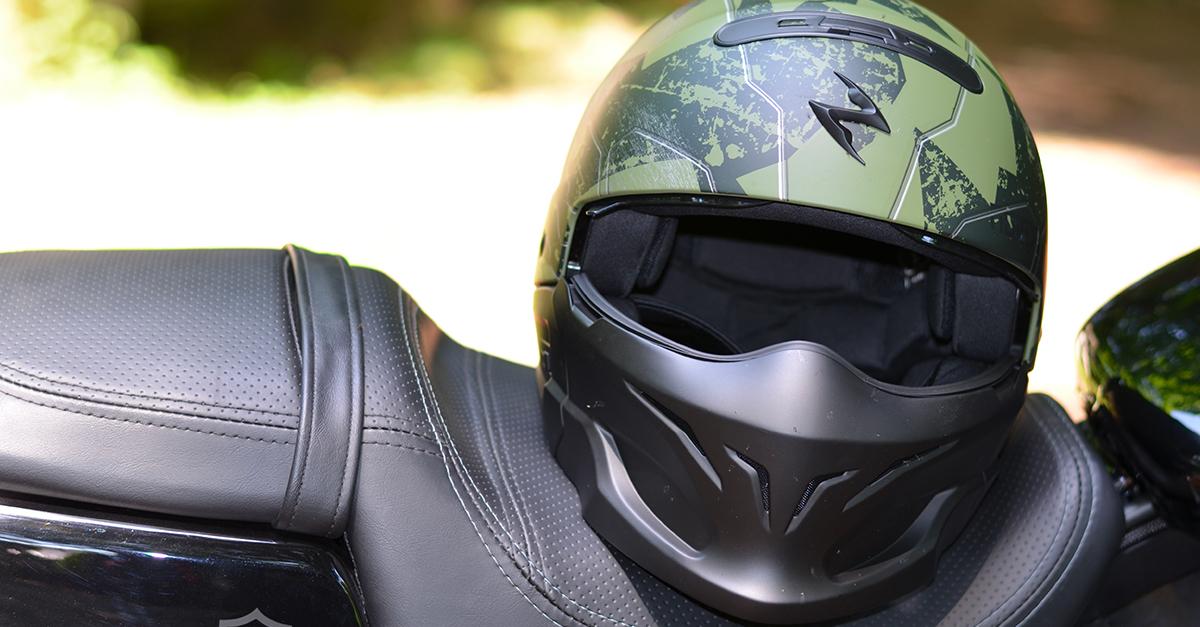 Casque moto exo combat