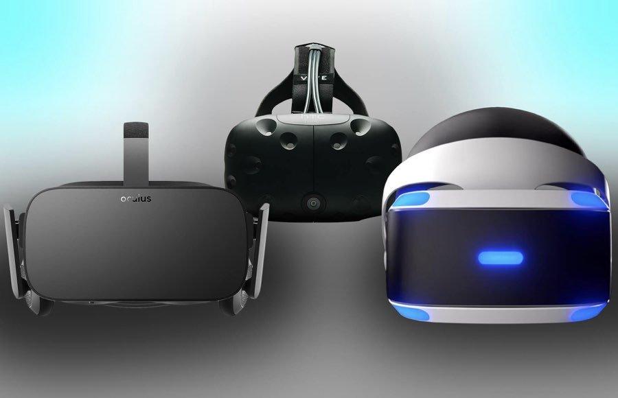 HTC Vive 、Oculus Rift (Facebook)、PSVR(Sony)