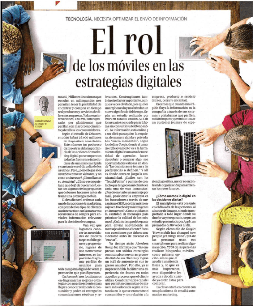 Diario La República - Nota a ICOMMKT