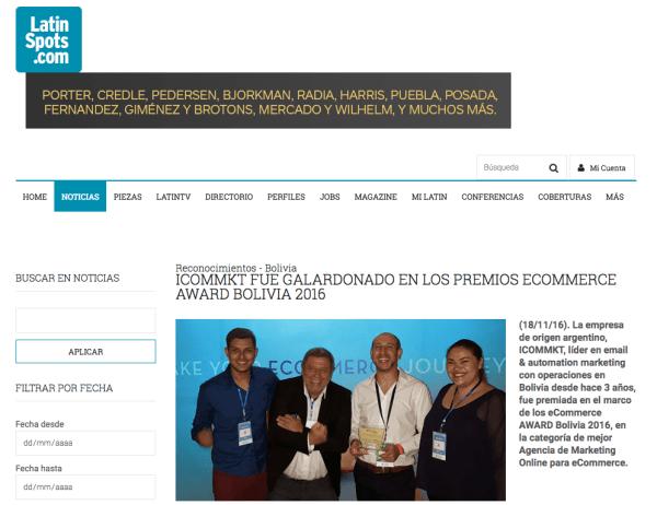 Latinspots ICOMMKT Bolivia