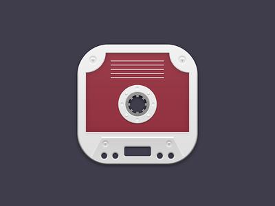 https://dribbble.com/shots/2495606-Cassette-Tape-iOS-Icon