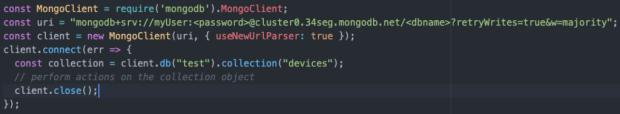 Código que debería aparecer si los pasos se siguieron correctamente.