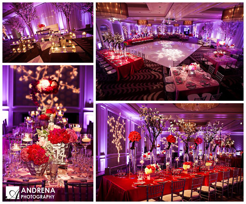 Red & Purple Indian Wedding Decor Ideas