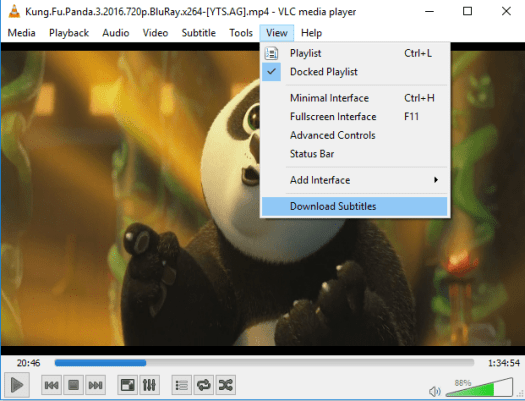 vlc player menu