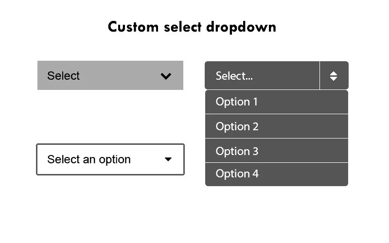 custom select dropdown