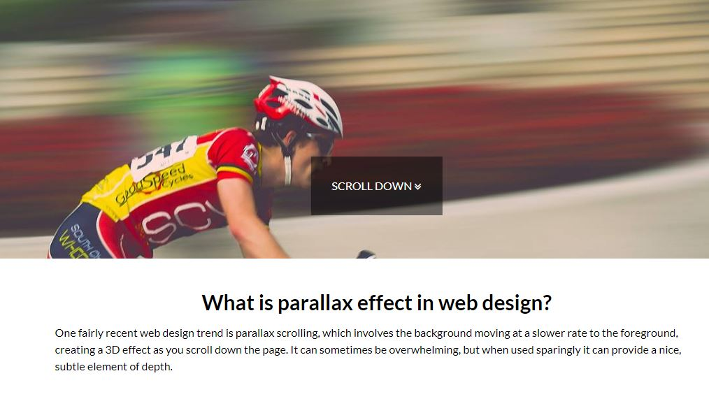 parallax featured image