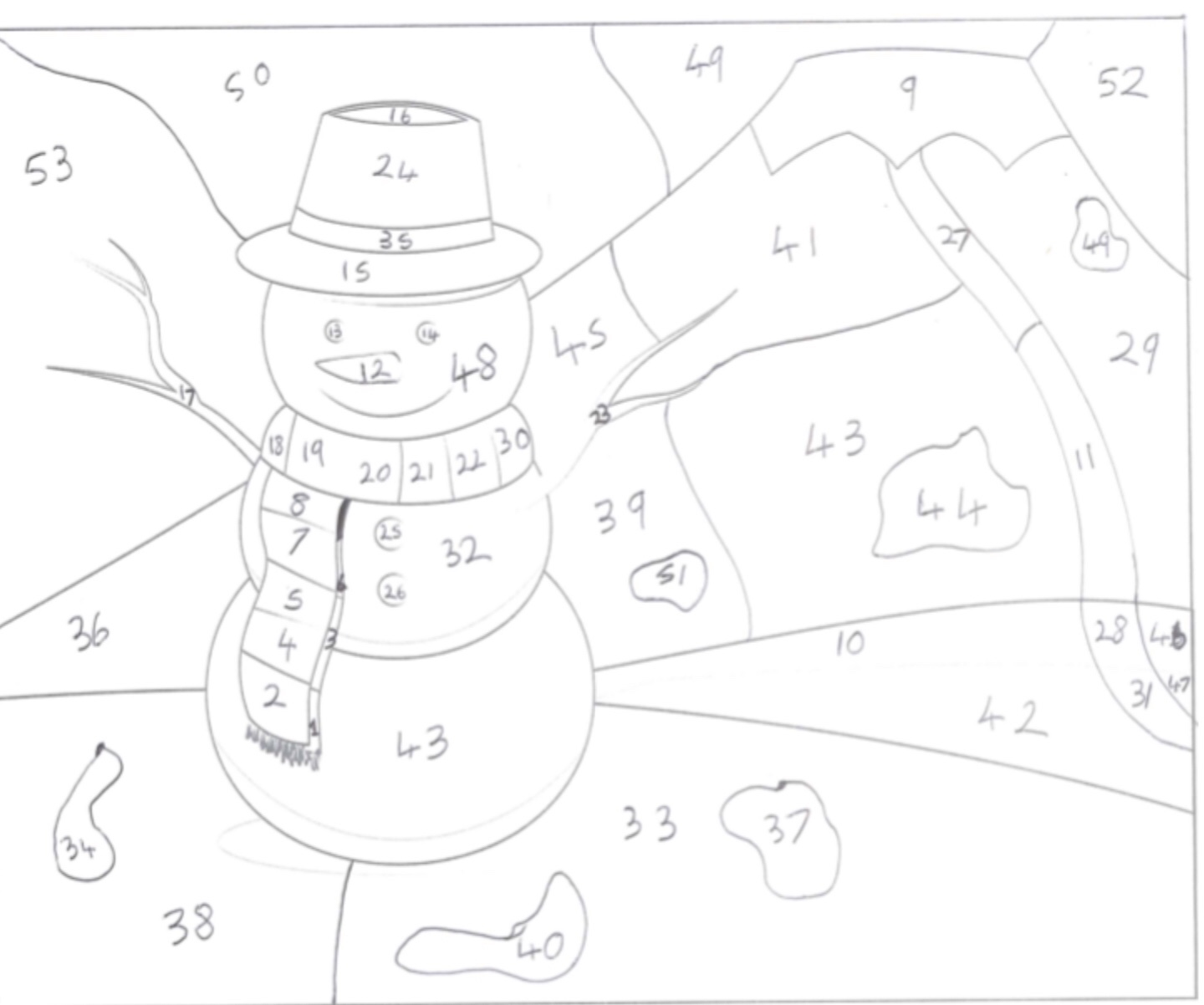 A Level Christmas Calculated Colouring Mathematicsandcoding