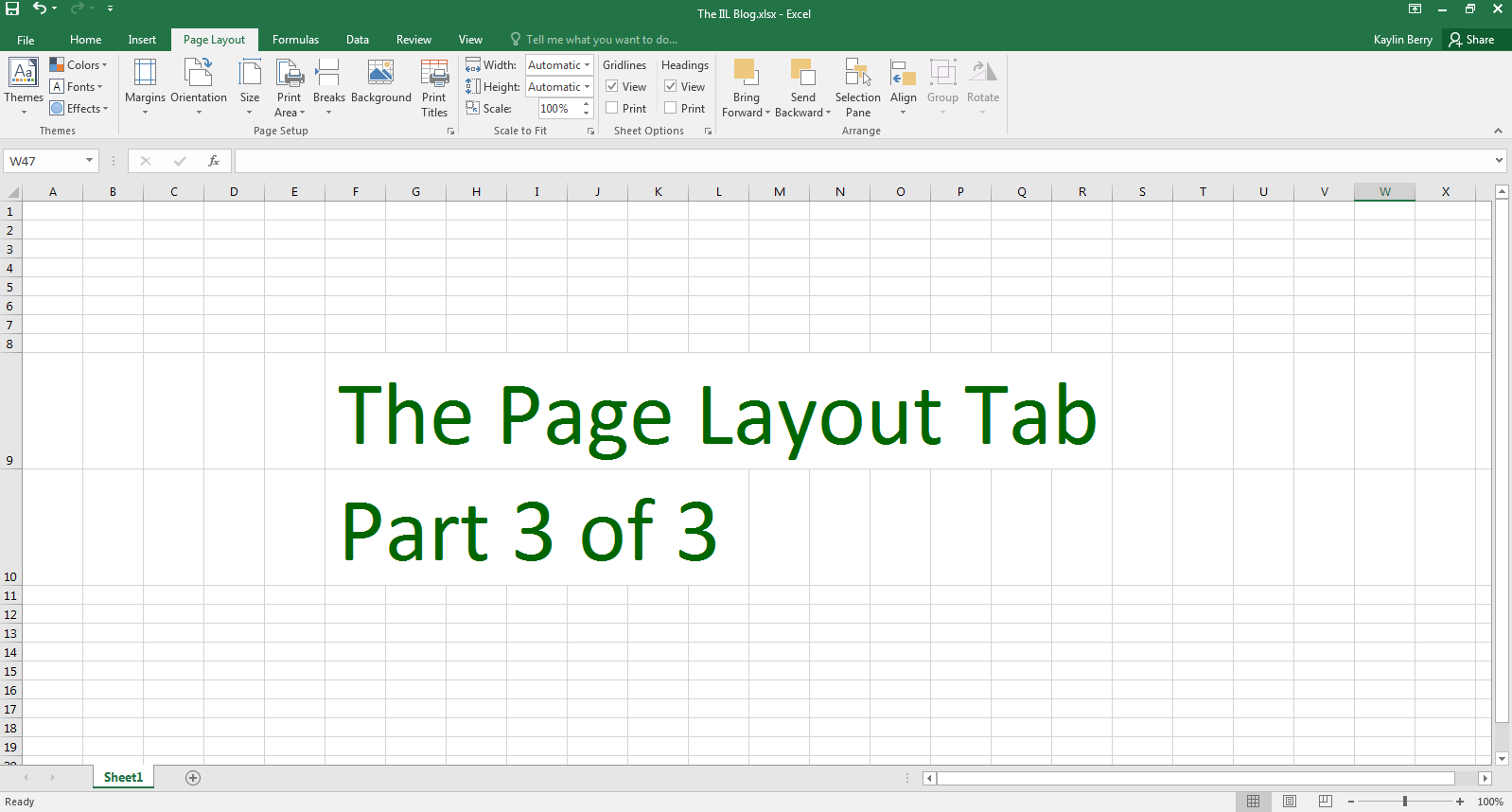 Excel The Iil Blog