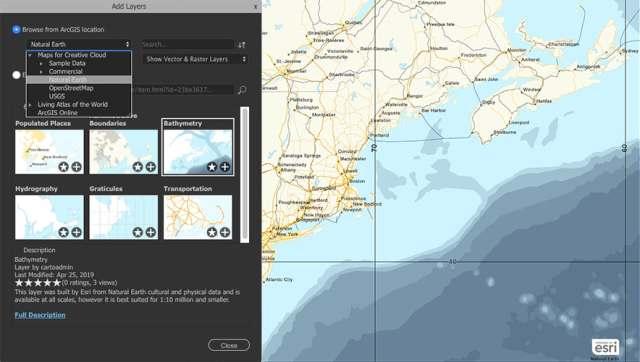 Saiba de todas as atualizações do ArcGIS 10.7.1 - ArcGIS Maps for Adobe Creative Cloud