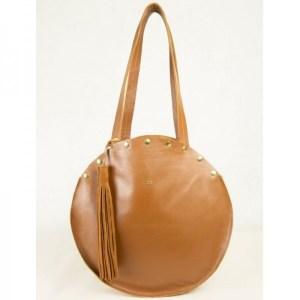 grand sac cabas en cuir tout rond