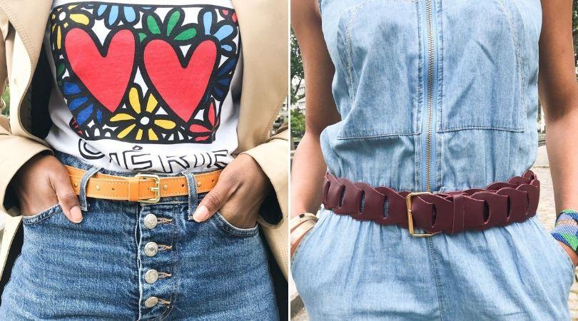 ceinture cuir accessoire boheme chic