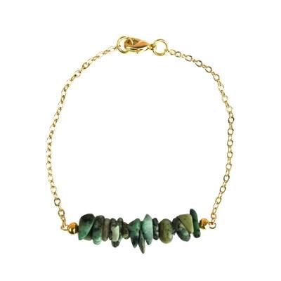 Bracelet en pierres naturelles Turquoise esprit bohème chic