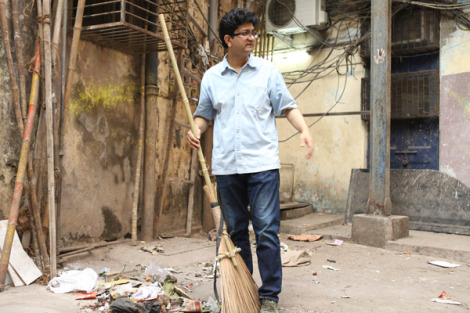 Prasoon Joshi at Lalbaug. Picture credit: radioandmusic