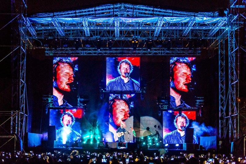 Ed Sheeran performing in Mumbai (Image credit- The Moneta-courtesy of Percept Live)