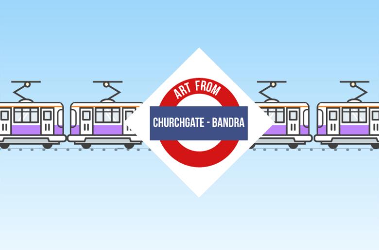 Indian Railways Churchgate train station to Bandra Train Station Art in Mumbai
