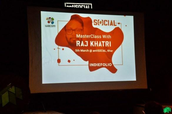 Raj Khatri masterclass poster inside antiSocial at Khar Mumbai