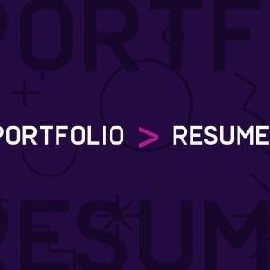 graphic design portfolio greater than resume