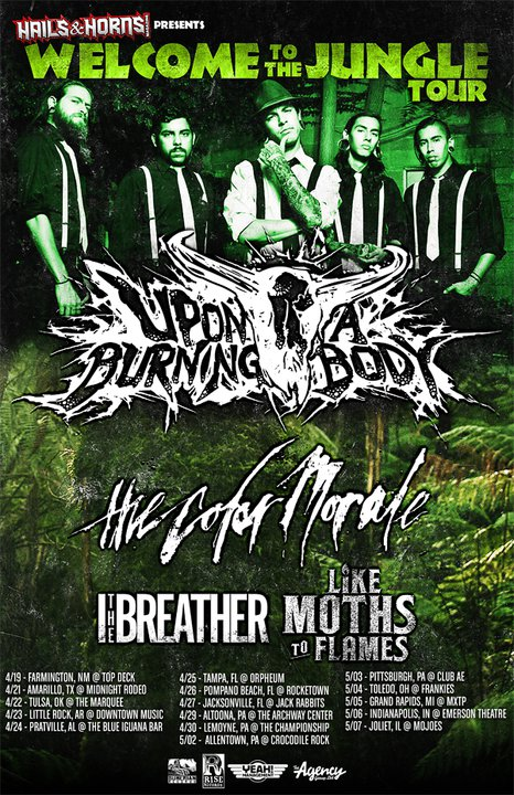 Upon A Burning Body headlining tour!