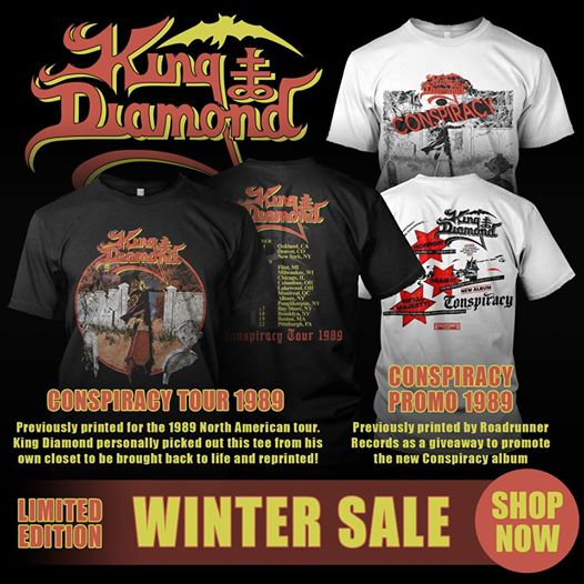King Diamond releases two new retro shirts!