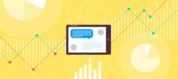 illustrazione di chatbot e grafici relativi alle vendite