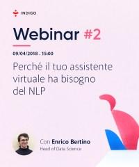 copertina del webinar su NLP e assistenti virtuali, tenuto da Indigo.ai