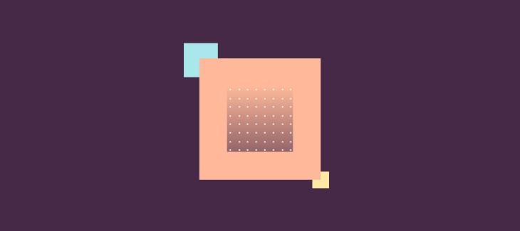 immagine iconica del data driven marketing, tre quadrati che si intersecano