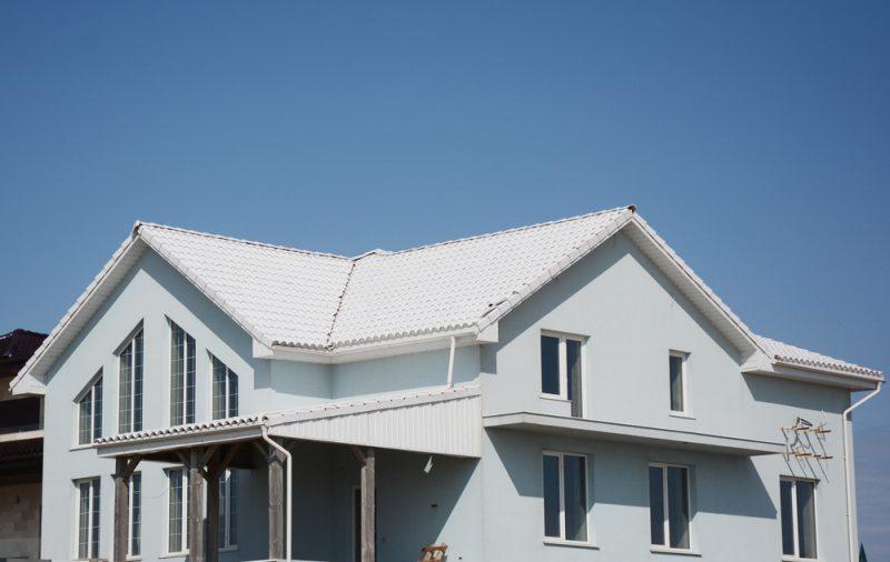 Cat atap Rumah dengan Warna Putih