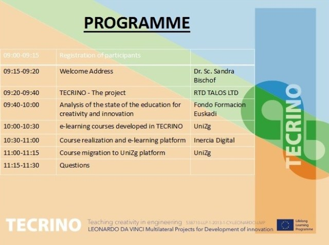 Tecrino Programme of Final Conference