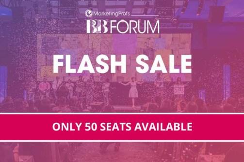 B2B Forum Event Flash Sale Promotion