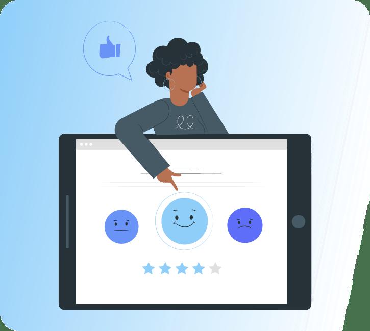 Customer experience - emojis happy