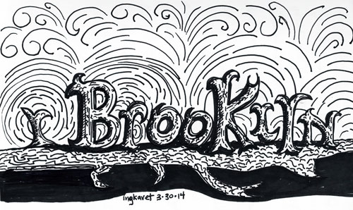 Hand lettered Brooklyn