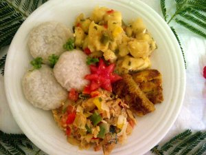 Recipe: The national dish of Saint Kitts and Nevis – Stewed saltfish with spicy plantains and coconut dumplings
