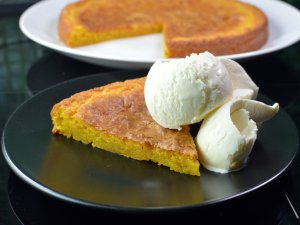 Recipe: SaffransKladdkaka – Swedish saffron sticky cake