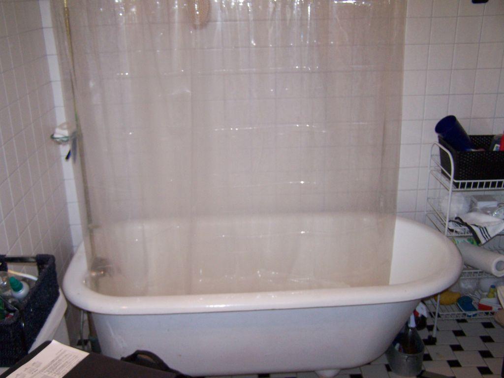 Cast Iron Clawfoot Tub To Shower Conversion Retro Black
