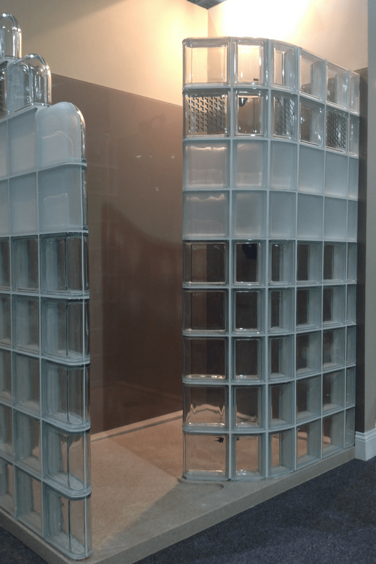 Modern Glass Block Shower System Introduced At Columbus