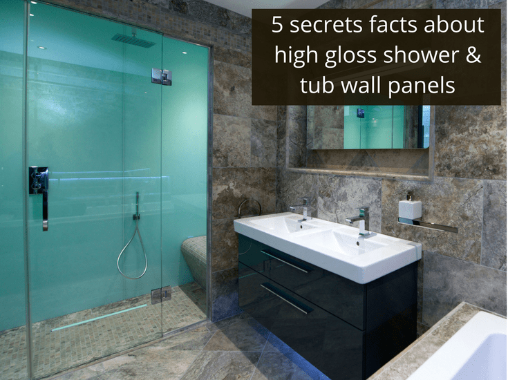 high gloss shower and tub wall panels