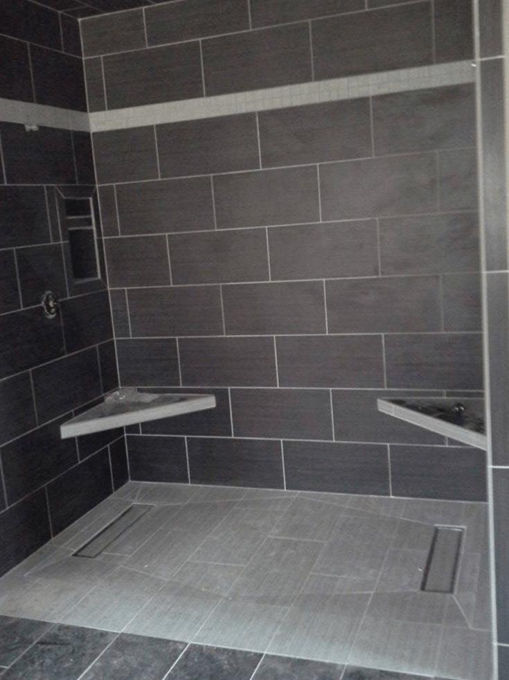 tile shower base wall panel
