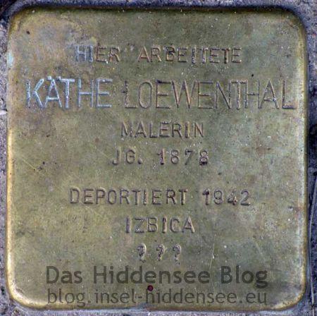Stolperstein von Käthe Loewenthal in Vitte auf dem Süderende