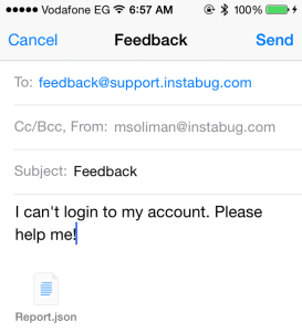 Feedback Reporting via Email Composer