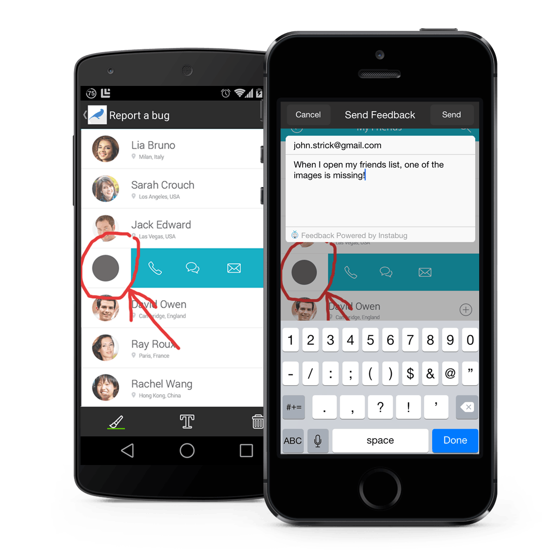 1. Report bugs and send feedback directly from your device