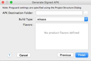 7.Generate Signed APK