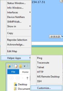 Paramètres pour la configuration SSH avec Intermapper